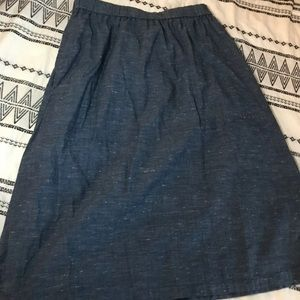GAP denim chambray skirt